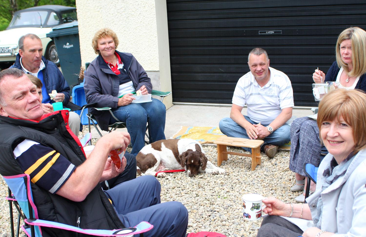 Members enjoying the chat during the Omagh Run pf 2